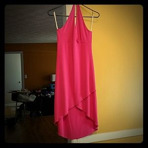 Med Pink Kona stretchy halter dress